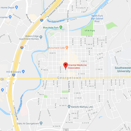 Map Of Georgetown Tx 78626.Oriental Medicine Associates Contact Us